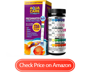 aqua care pro freshwater test strips