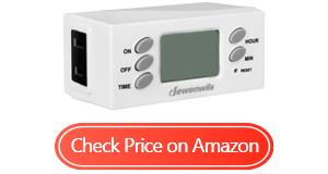 dewenwils indoor plug in outlet timer
